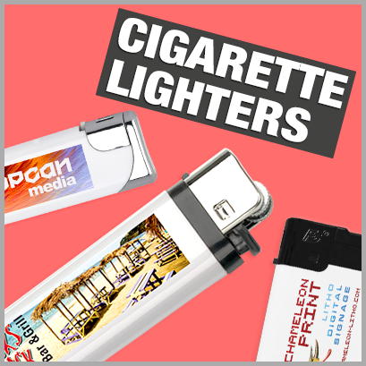 Cigarette Lighters personalised with print